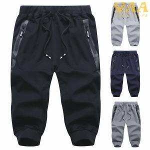 ジョガーパンツ メンズ クロップドパンツ ジャージパンツ ショートパンツ 短パン スポーツ 夏 父の日|yaa