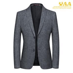 スーツジャケット メンズ グレー ジャケット テーラードジャケット ビジネスジャケット 2ツボタン 上品 カジュアル 通勤 秋|yaa