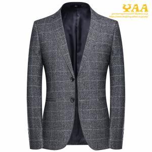 ジャケット メンズ スーツジャケット テーラードジャケット ビジネスジャケット 2ツボタン チェック柄 カジュアル 通勤 秋|yaa