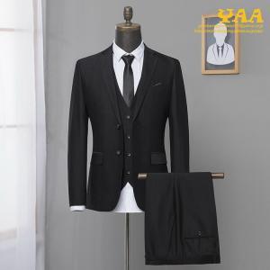 ブラックフォーマル スーツ ビジネススーツ フォーマルスーツ スリーピース 3ピーススーツ 礼服 セットアップ 秋夏 喪服 法事 メンズ|yaa