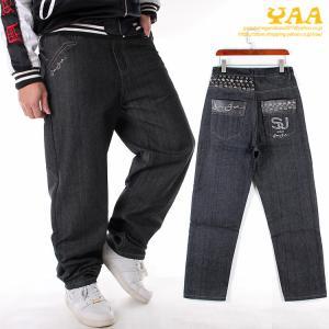 バギーパンツ メンズ ジーンズ デニム パンツ デニムワイドパンツ ロング丈 ボトムス 大きいサイズ きれいめ ストリート yaa