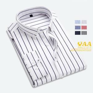 シャツ メンズ ストライプ カジュアルシャツ ボタンダウンシャツ 長袖シャツ shirt 細身 ストライプシャツ  2020|yaa