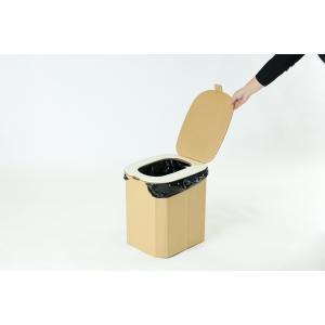 【1個】おしりにやさしい簡易トイレ 非常用ダンボール製組立式トイレ(5回分)|yabai0132|06