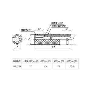 TONE トネ プロテクター 付 インパクト用 薄形 ホイルナット ソケット 4AP-17N yabumoto 02