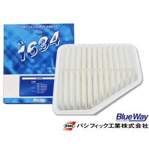 アルファード GGH25W ヴァンガード GSA33W エアエレメント エアー フィルター クリーナー パシフィック工業 BlueWay AX-1694|yabumoto
