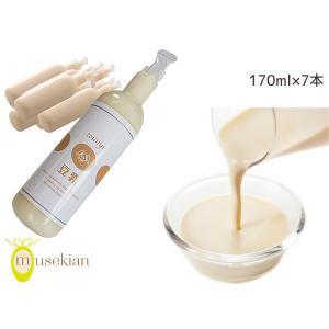 豆乳 170ml 7本セット 無調整 国産大豆 100% ハンディサイズ 夢石庵 むせきあん 207|yabumoto