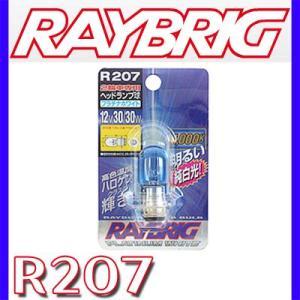 RAYBRIG 2輪車用ハイパーバルブ ランプ ライト12V30/30W プラチナホワイト R207|yabumoto