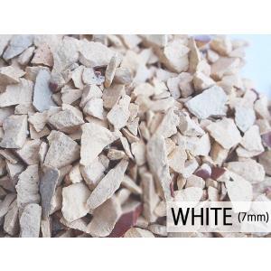 瓦チップ Mサイズ 白 600g 観葉植物 プランター カバー材 かわいい リサイクル びんごテコラ|yabumoto