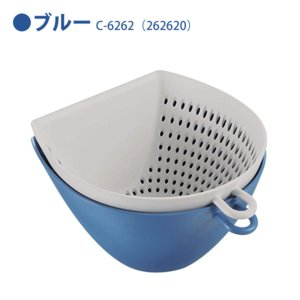 チリトリ ザル ボウル 2点セット パール金属 / 日本製 ホワイト レッド ブルー 電子レンジ可 食洗機可 計量 目盛り付き フック付き /|yacom-tokyo|04