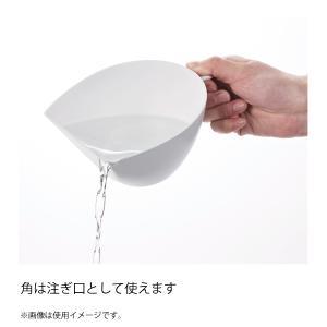 チリトリ ザル ボウル 2点セット パール金属 / 日本製 ホワイト レッド ブルー 電子レンジ可 食洗機可 計量 目盛り付き フック付き /|yacom-tokyo|08