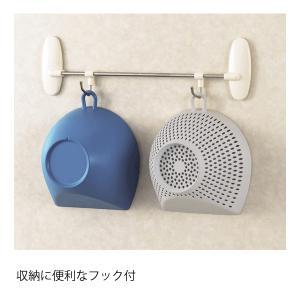 チリトリ ザル ボウル 2点セット パール金属 / 日本製 ホワイト レッド ブルー 電子レンジ可 食洗機可 計量 目盛り付き フック付き /|yacom-tokyo|10