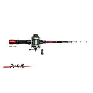 OGK 大阪漁具 チビテトラセット3 105BT/レッド 穴釣り ロッド+ベイト糸付きリール