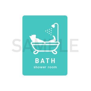 BATH〜バスルーム★バスルーム 浴室 おしゃれ 扉 ドア 猫 3000円以上送料無料|yadotoneko