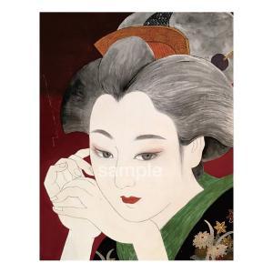 アートパネルF0「遊女流し目」★岩堀葉 猫画 リビング インテリア 3000円以上送料無料|yadotoneko
