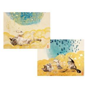 アートパネルF0×2「戯れて」★岩堀葉 猫画 リビング インテリア 3000円以上送料無料|yadotoneko