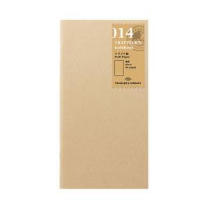 トラベラーズノート レギュラーサイズ-リフィル014 クラフト紙 14365006