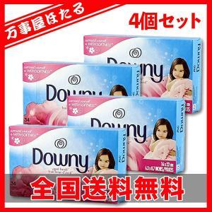 4個セット 乾燥機用 シート柔軟剤 ダウニー シート エイプリルフレッシュの香り 34枚(34シート)|yagihotaru