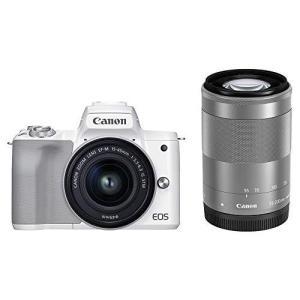 キャノン Canon ミラーレス一眼カメラ EOS Kiss M2 ダブルズームキット ホワイト KISSM2WH-WZK yagihotaru