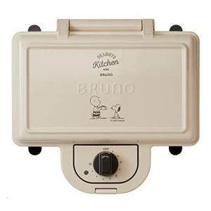 BRUNO ブルーノ ホットサンドメーカー スヌーピー 耳まで焼ける 電気 ダブル PEANUTS BOE069-ECRU|yagihotaru