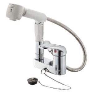 三栄水栓 K37100VR-13 【JIS規格】 シングルスプレー混合栓(洗髪用) 13 (K37000VR-13 後継品) SANEI