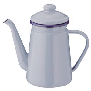 やかん ケトル ih ブレイクタイム コーヒーポット 1.1L ブルーグレー ホーローケトル サイズ...