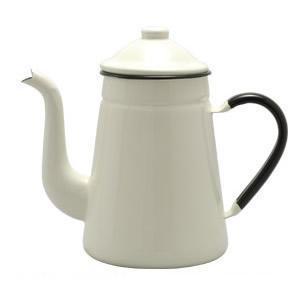野田琺瑯 ホーロー キリンコーヒーポット 11cm ホワイト  商品寸法  W.207×D.112×...