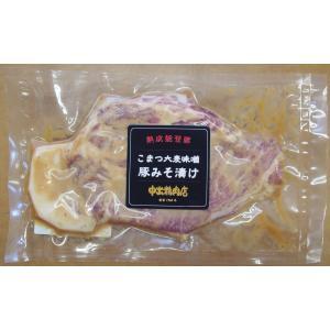 能登熟成豚 こまつ大麦味噌豚漬け 自宅用1枚|yakibuta-nakade