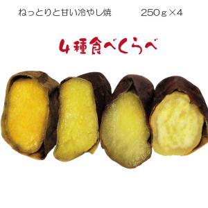 焼き芋 4種食べ比べ 紅はるか シルクスイート 安納紅 大栄愛娘 冷蔵 冷やし焼き芋 ひえひえ君 スイーツ 1kg 送料無料 yakiimomarujun
