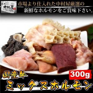 中村屋 送料無料 国産牛ミックスホルモン 300g 牛肉 2...