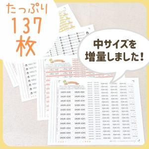 布用 137枚 アイロンシール お名前シール|yakudachi|09