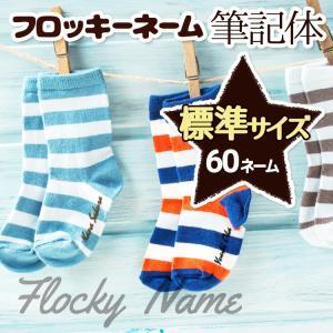 フロッキーネーム 筆記体 標準サイズ60個|yakudachi