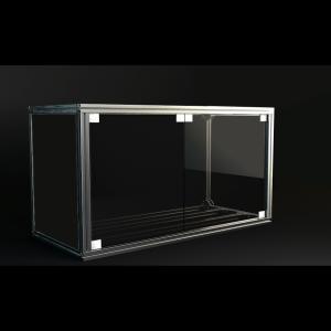 Jigsoma Aqua stand W900H700水槽台用強化スモークガラスドア取り付けセット yakudo-engine