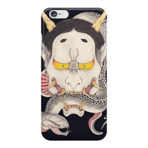 和柄iPhoneケース『般若と蛇』 iPhone7 plus / 6s plus / 6 plus用|yakudo-engine