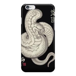 和柄iPhoneケース『蛇図』 iPhone7 plus / 6s plus / 6 plus 用|yakudo-engine