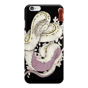 和柄iPhoneケース『桜と蛇』 iPhone7 plus / 6s plus / 6 plus 用|yakudo-engine