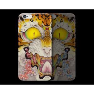 和柄iPhoneケース『虎面図 雲と波と桜』雲版 iPhone7 / 6s / 6 用|yakudo-engine