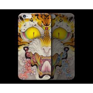 和柄iPhoneケース『虎面図 雲と波と桜』雲版 iPhone7 plus / 6s plus / 6 plus 用|yakudo-engine