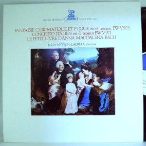 ←【検聴合格】↑針飛無安心レコード】1979年・美盤!ロベール・ヴェイロン=ラクロワ「 J・S・バッハ=イタリア協奏曲」【LP】|yakusekien