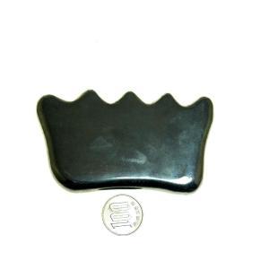 【薬石苑】テラヘルツ鉱石 櫛型 手造りかっさ&ツボ押しプレート特大 110mm112g|yakusekien
