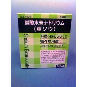 重ソウ  炭酸水素ナトリウム   食品添加物 500g 汚れ落としやあく抜き、ジュース・お菓子作りに|yakusen-in