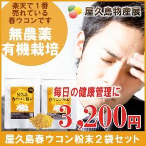 屋久島春ウコン粉末(100g)2袋セット / 無農薬 / 有機栽培 / 産地直送|yakushimashop