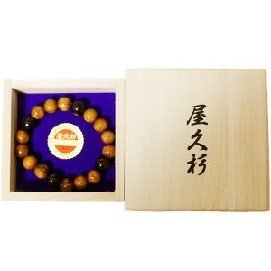 屋久杉 数珠 念珠 ブレスレット yakusugi-art-craft