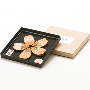 屋久杉 彫刻はしおき さくらセット yakusugi-art-craft