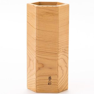 六角花器 水差し付|yakusugi-art-craft