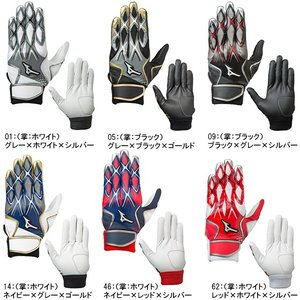 少年野球 バッティング手袋 両手用 ジュニア 少年 ミズノ セレクトナイン1EJEY140|yakyu-hitosuji