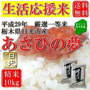 お米 10kg(5kg×2) 栃木県日光市産 白米 一等米 ...
