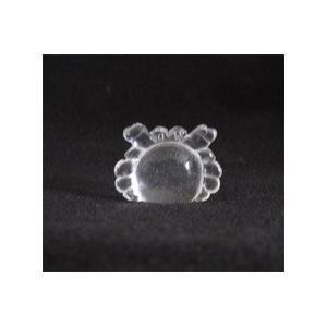 天然石水晶置物 蟹(かに) ※メール便対応可|yama