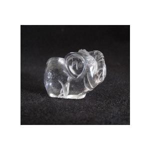 天然石水晶置物 象(ぞう) ※メール便対応可|yama