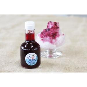 かき氷シロップ「ブルーベリー」 無香料・無着色・山梨県産果汁たっぷり・フルーツソース|yama