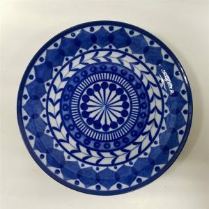 エスニックデザイン 中皿 ブルーアラビアン  ブルー